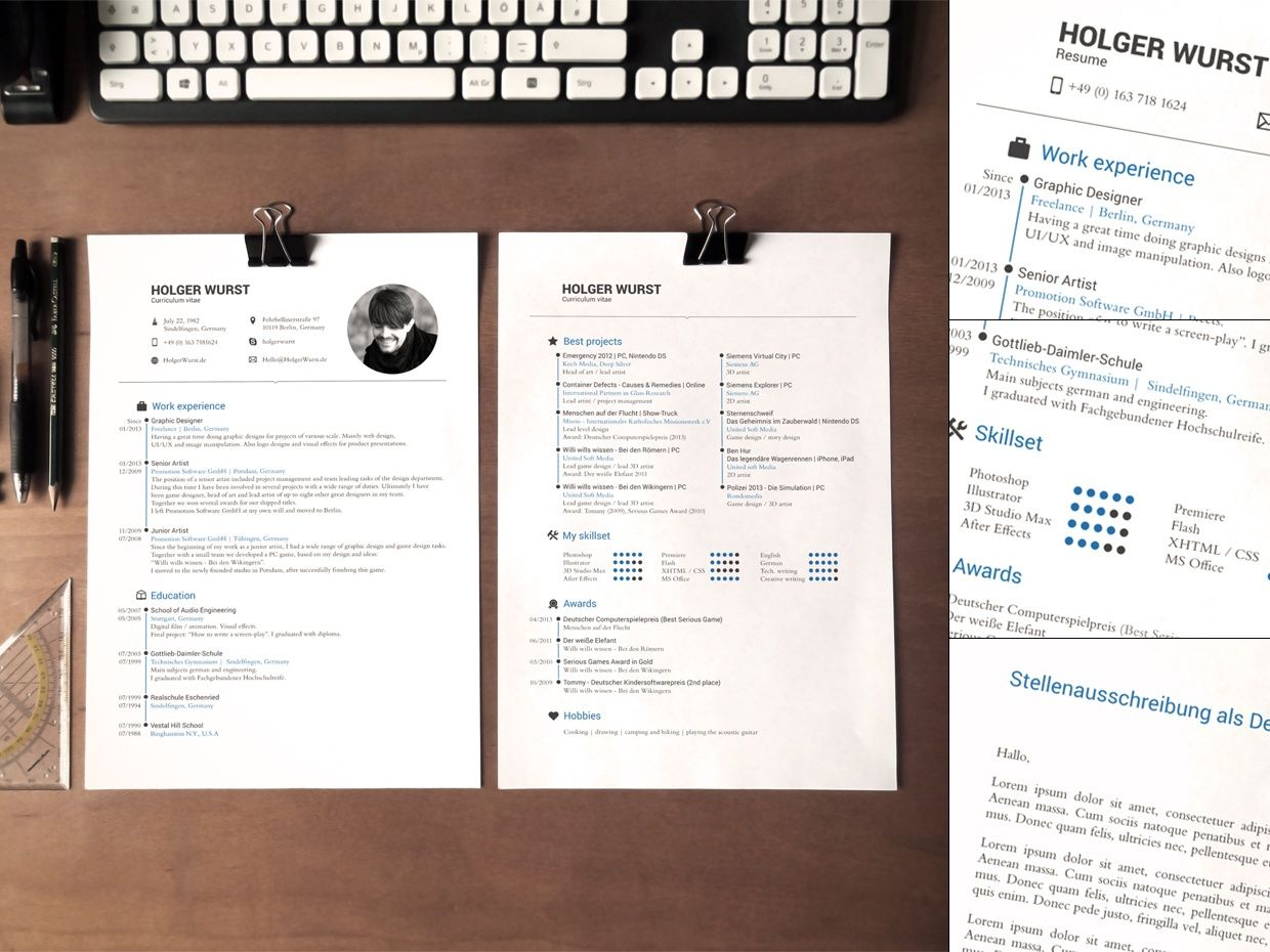 Application Documents Template v01 CVResumeCover le