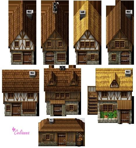 """Celianna's Parallax Tiles """"Medieval Houses"""""""