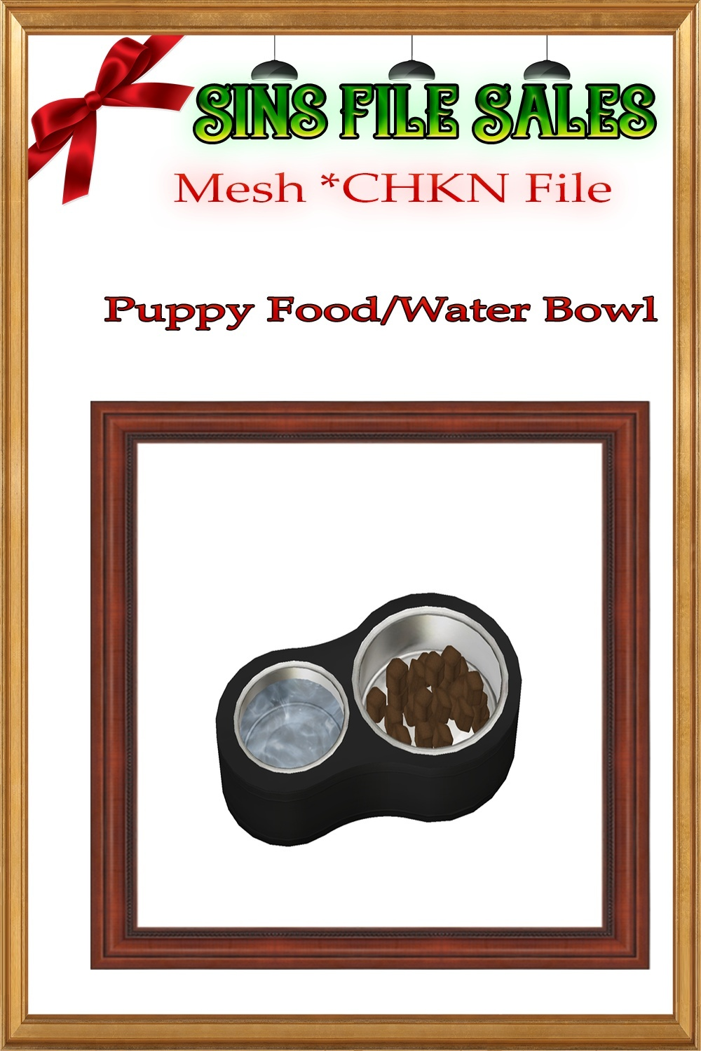Puppy Food Bowl *CHKN