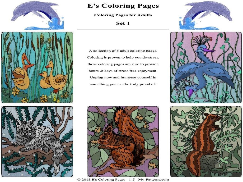E's Coloring Pages - Set 1