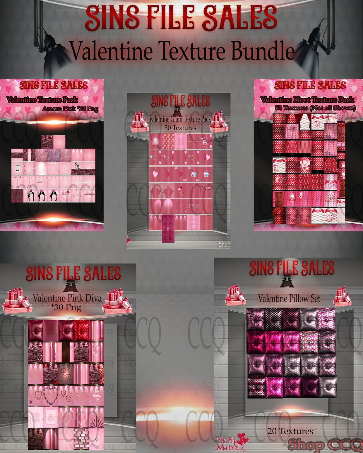 ♥Valentine Texture Bundle♥ 5 Packs Included