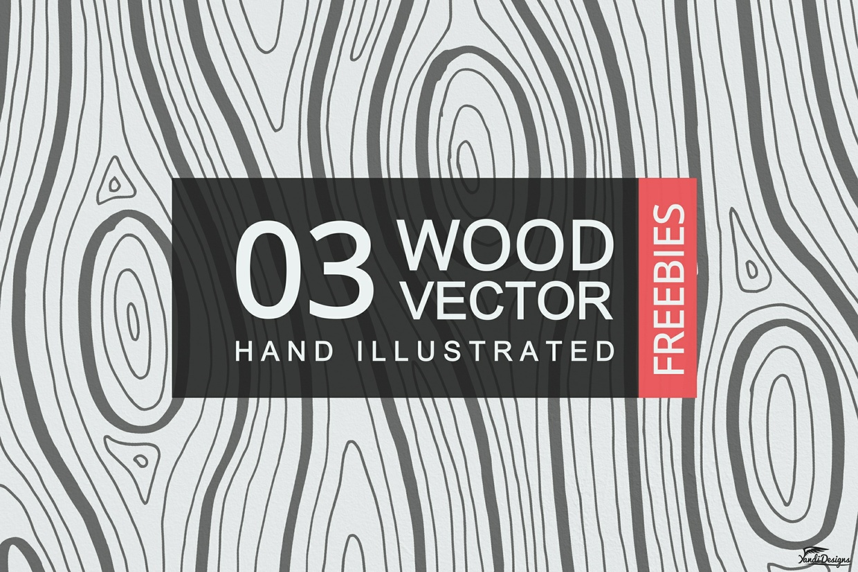 Free Hand Illustrated Wood Texture Vector