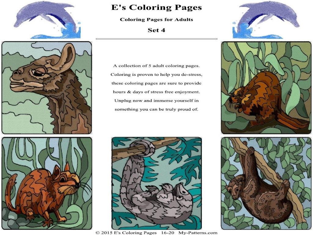E's Coloring Pages Set - 4