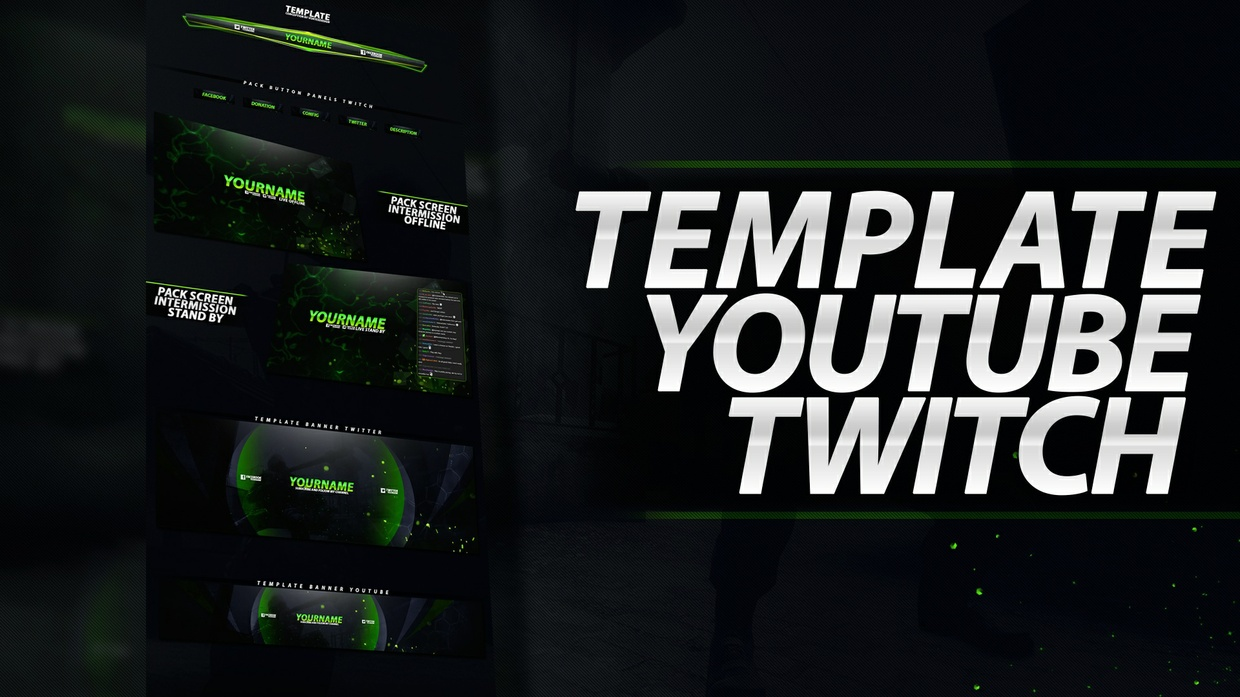 TEMPLATE YOUTUBE AND TWITCH