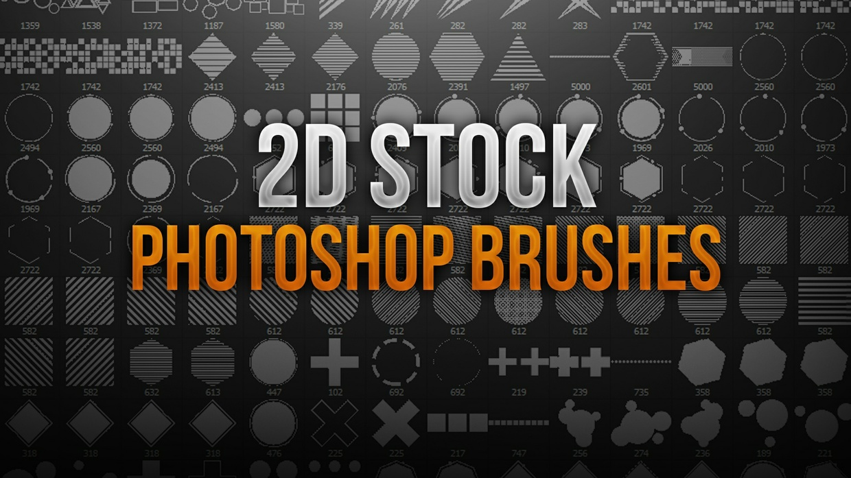 2D Stock Photoshop Brush Pack
