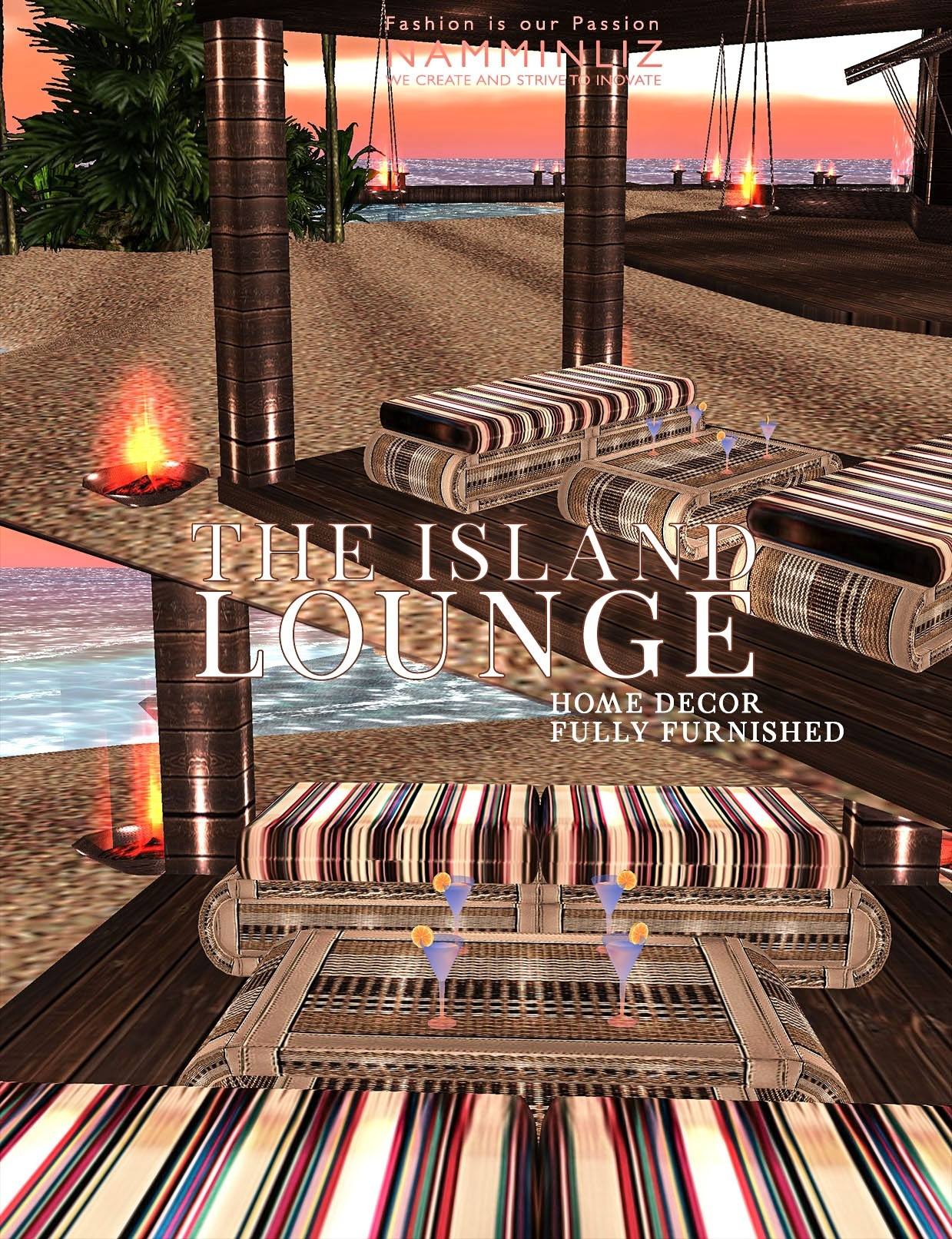 The Island Lounge Home decor imvu 19 Textures PNG FULLY FURNISHED