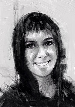 Gwendolyn Davis -USA -Black n White portrait