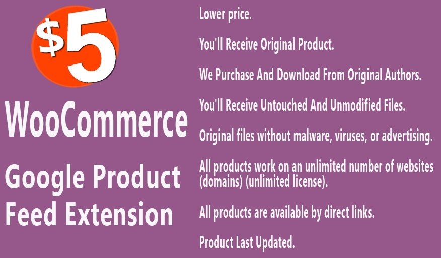 WooCommerce Google Product Feed Extension