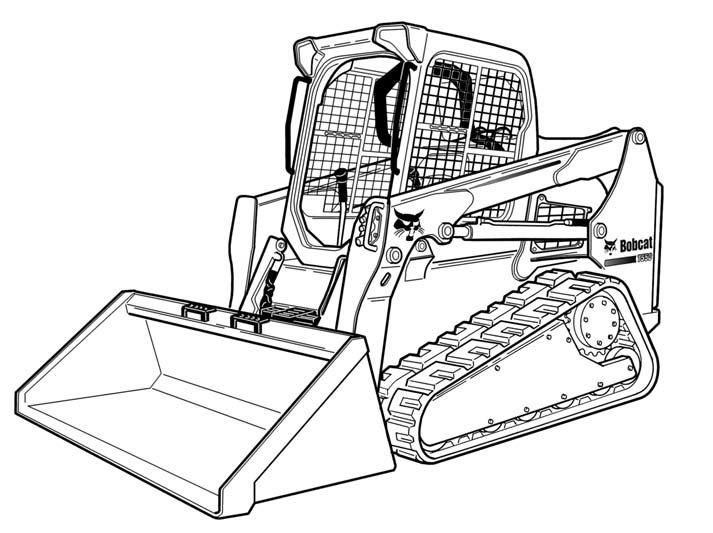 Bobcat T550 Compact Track Loader Service Repair Manual Download(S/N A7UJ11001 & Above)