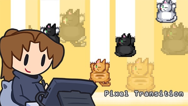 Pixel Cat Transition