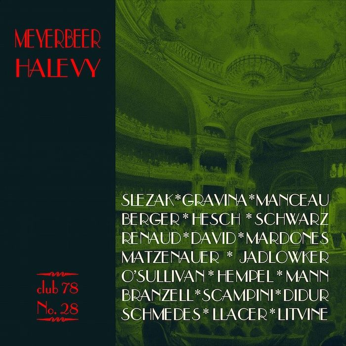 Meyerbeer, Halevy * club 78 No. 28