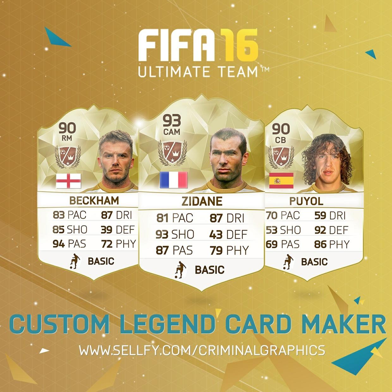 CUSTOM LEGEND CARD MAKER : FIFA 16 : CriminalFIFA - Sellfy.com