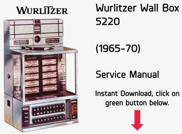 Wurlitzer 5220 Wallbox Service Manual