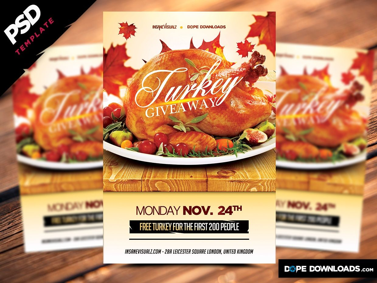 free turkey giveaway 2019 turkey giveaway free flyer dope downloads sellfy com 2202