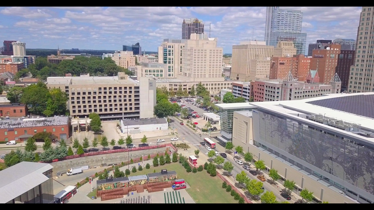 Raleigh Downtown Drone Stock Day Time 4k