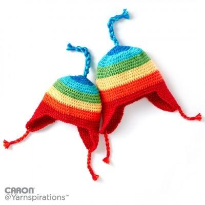 Rainbow Earflap Hat