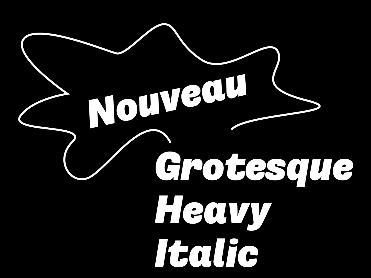 Nouveau Grotesque Heavy Italic Desktop 1-3 User
