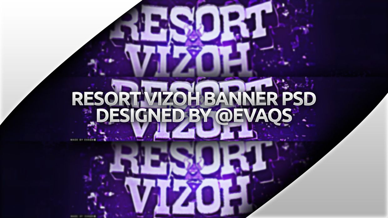 Resort Vizoh Banner PSD