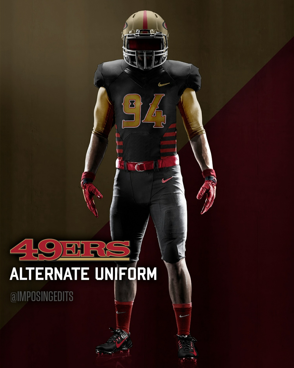 Football Alternate Uniform Template (PSD)