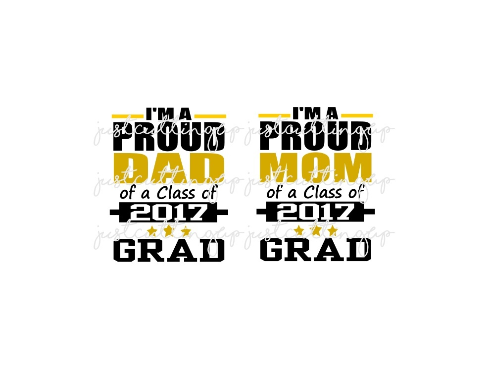 Proud Parents of a 2017 Graduate- SVG ONLY