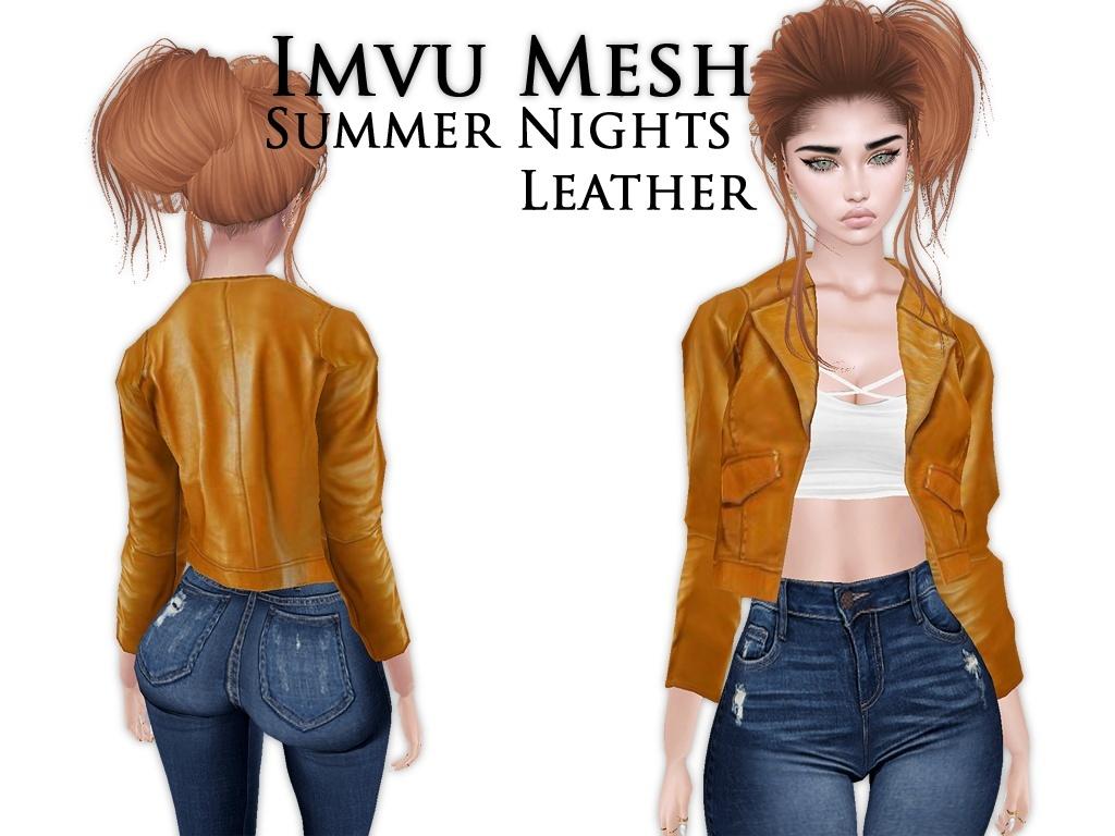 IMVU Mesh - Tops - Summer Nights Leather
