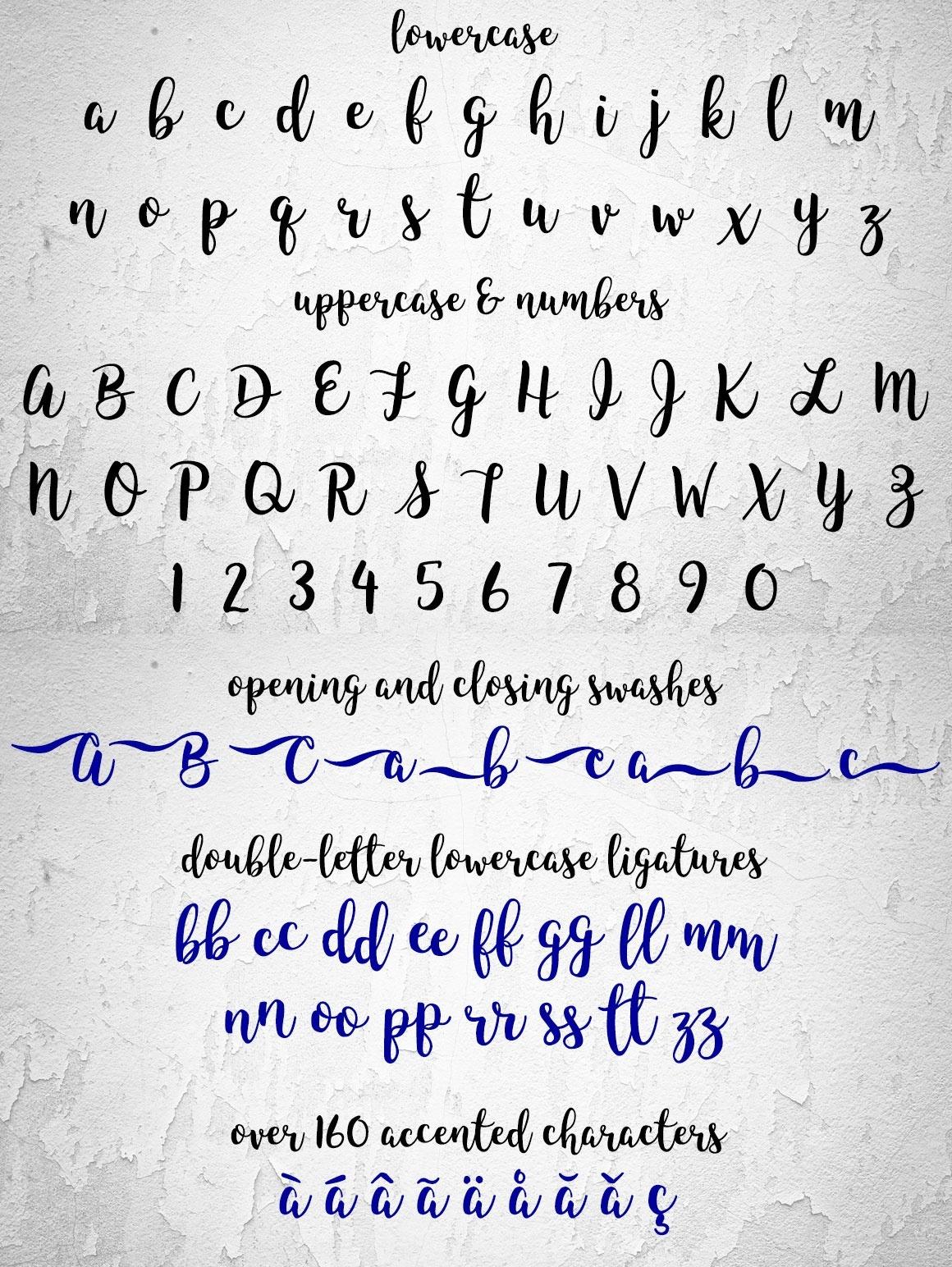 hand script font