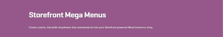 WooCommerce Storefront Mega Menus 1.3.3 Extension