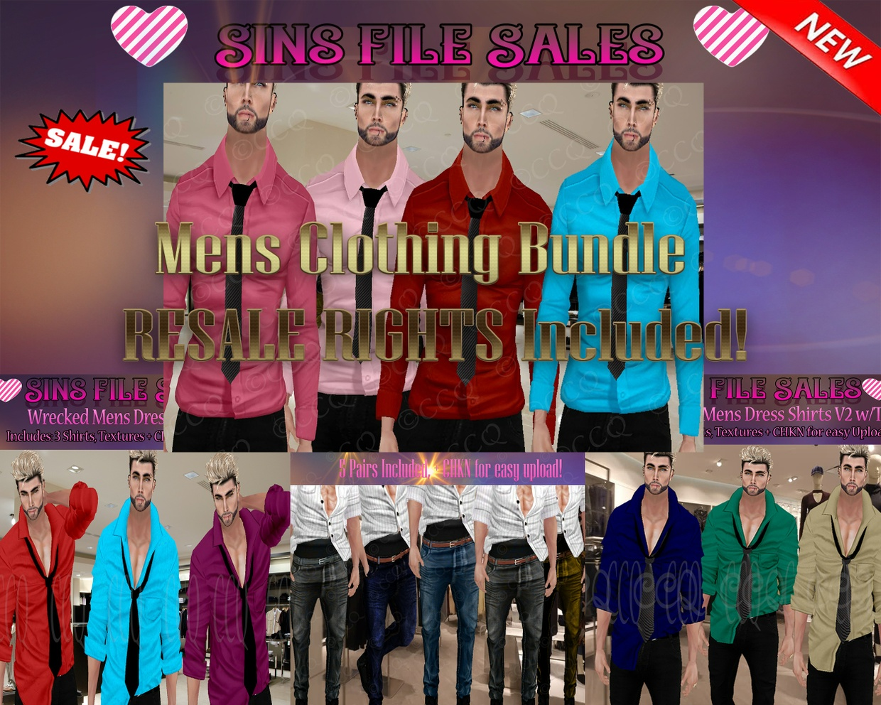 Mens Clothing Bundle with RESALE Rights!