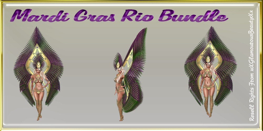 Mardi Gras Rio Bundle Catty Only!!!