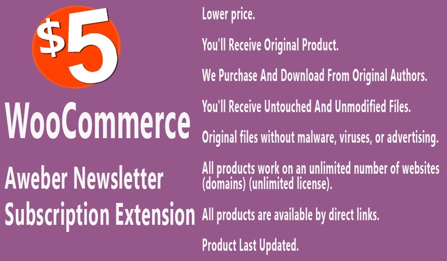 WooCommerce Aweber Newsletter Subscription Extension