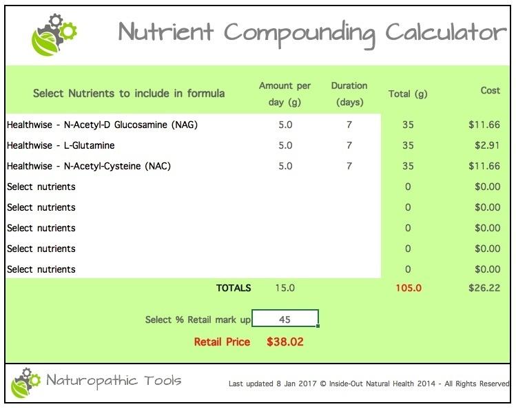 Nutrient compounding calculator