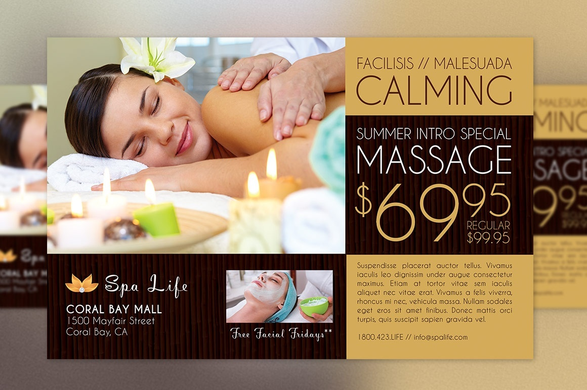 Spa Massage Flyer Template