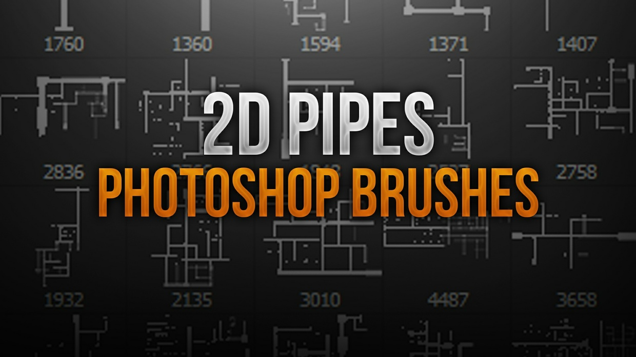 2D Pipes Stock Photoshop Brush Pack