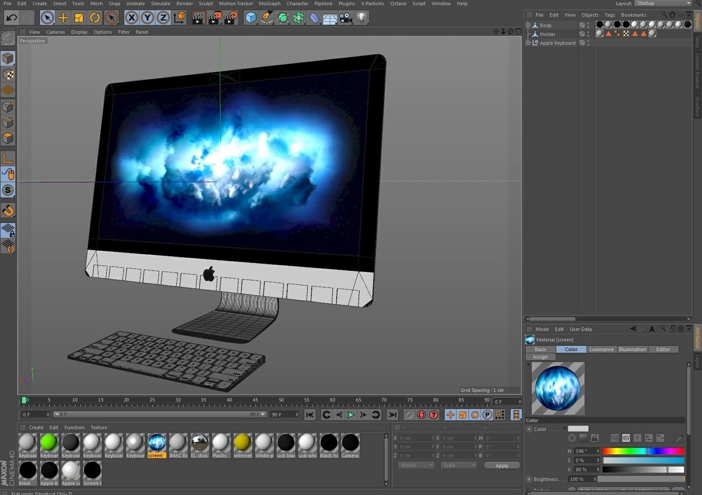Apple IMac 27 2017 3D model