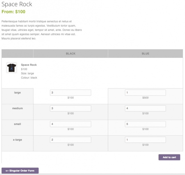 WooCommerce Bulk Variation Forms 1.5.1 Extension
