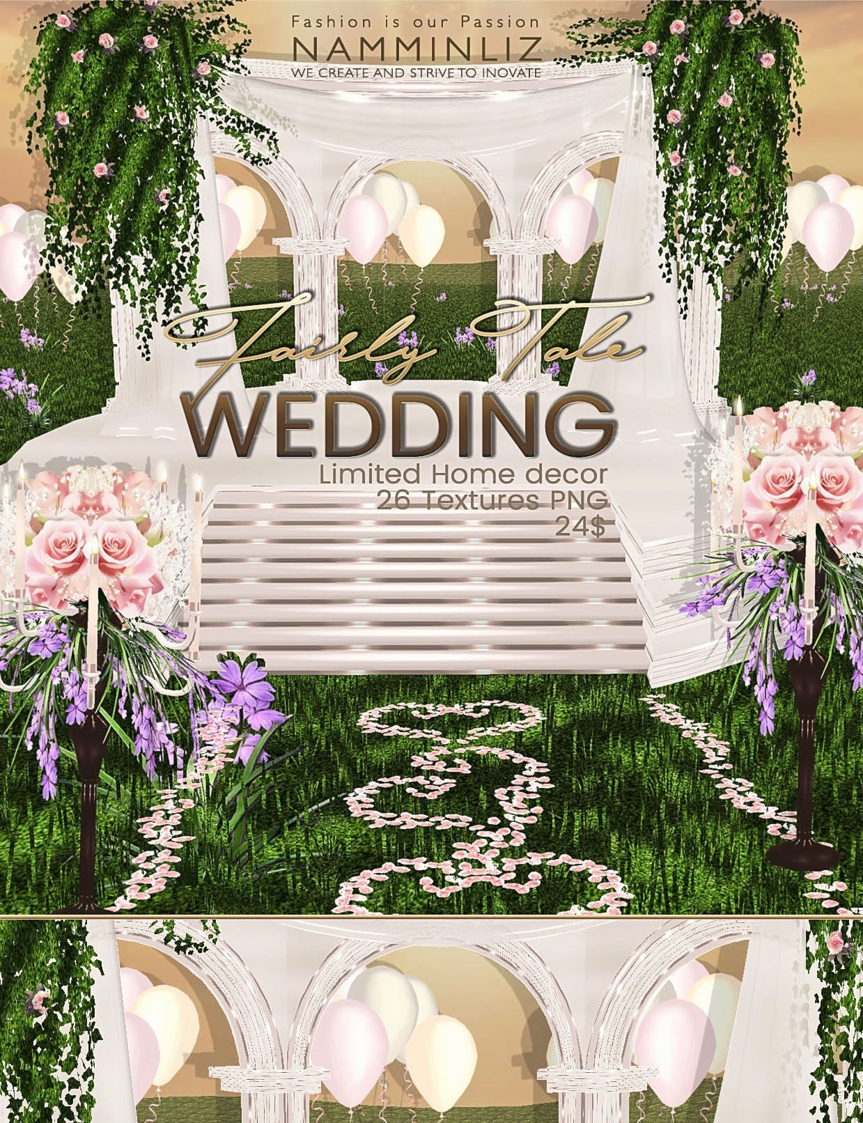 Fairy Tale Wedding home decor 26 Textures PNG imvu Limited to 5 persons