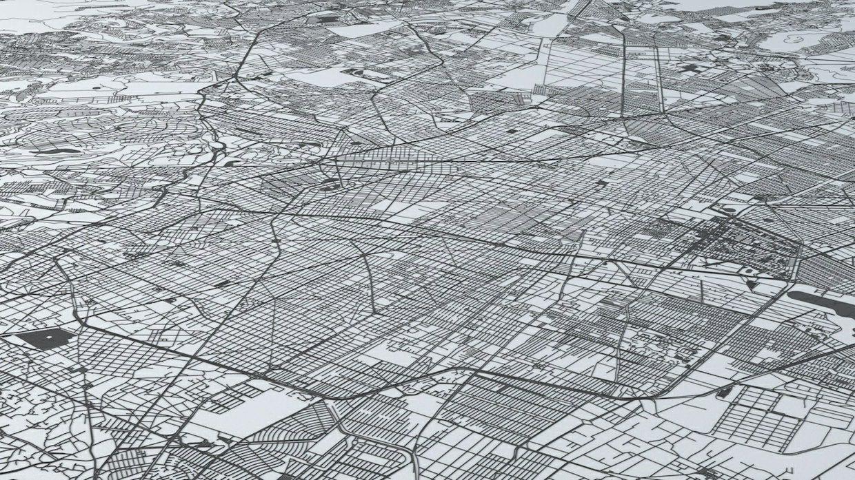 Mexico City Road Network Architectural 3D Model