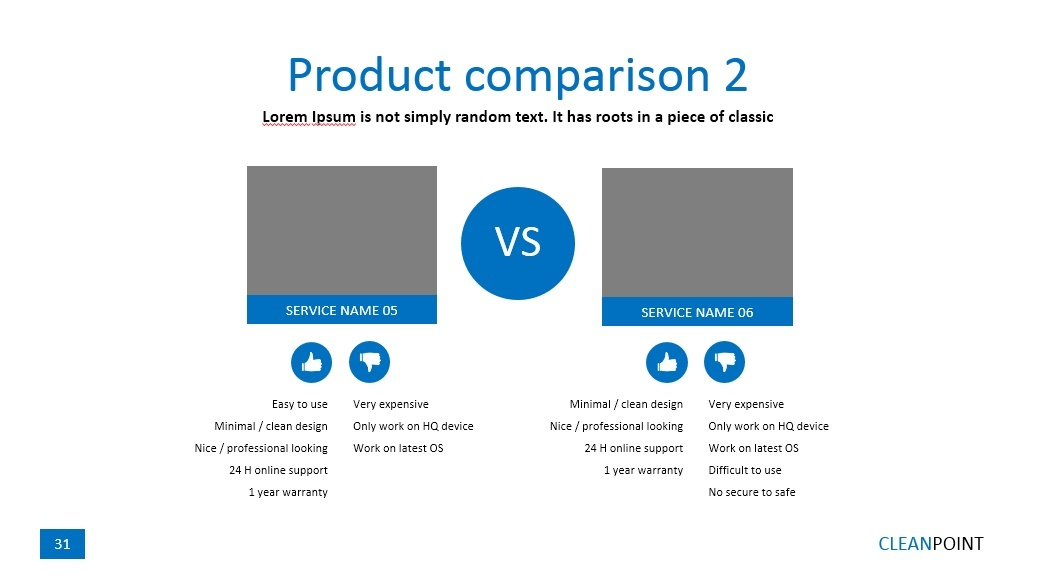 Clean Point PowerPoint Presentation Template