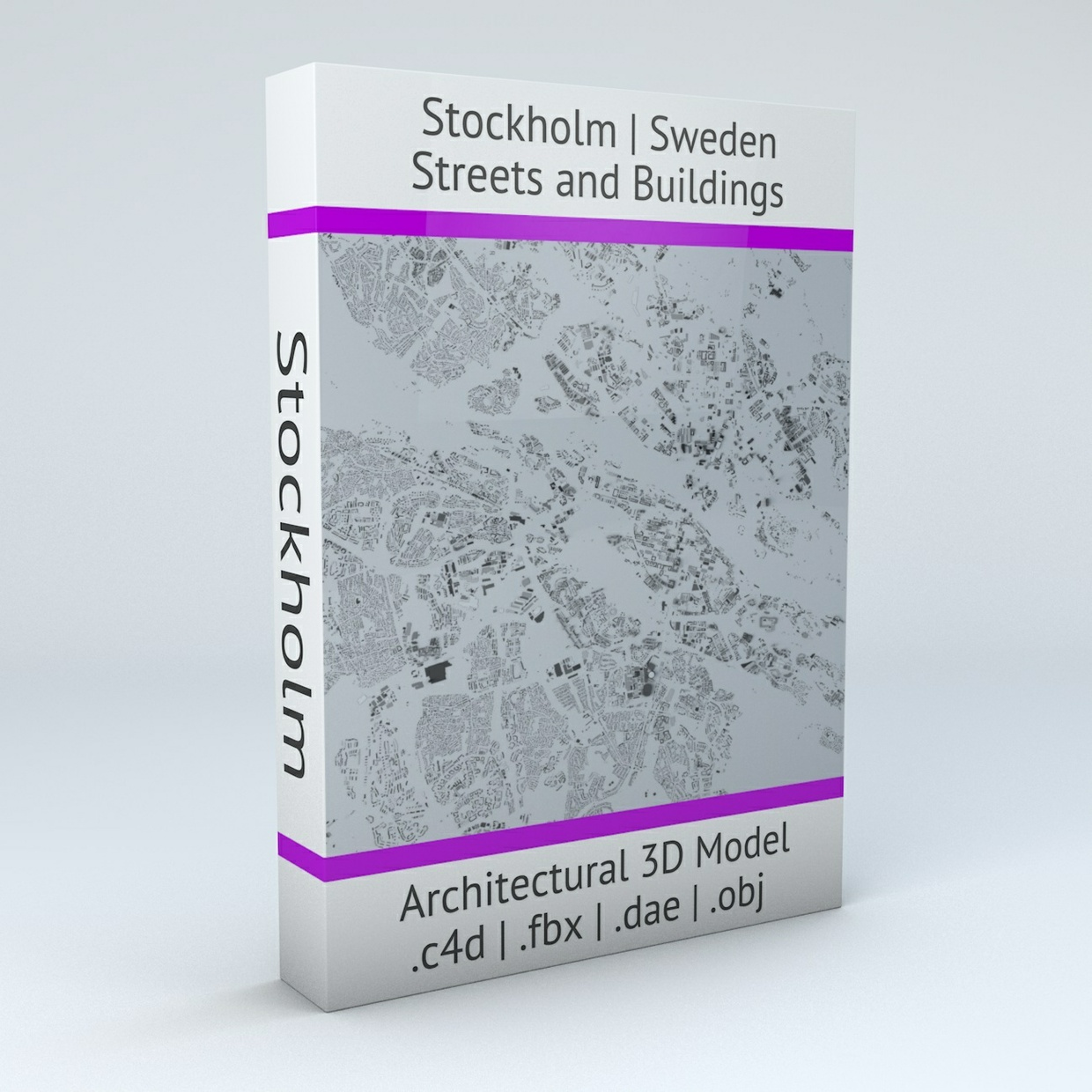 Stockholm Streets and Buildings Architectural 3D Model