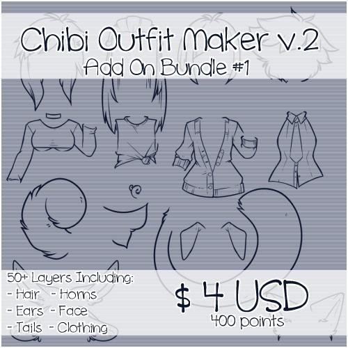 Chibi Outfit Maker v.2 Add On Bundle #1