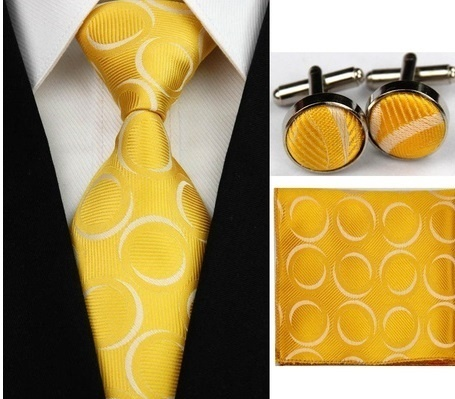 B Royal Designs  Gold/White Tie Set (Shipping Included)