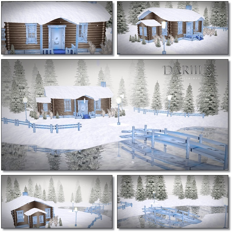 [D]Mesh_Room..snowy house in a lake2017 D