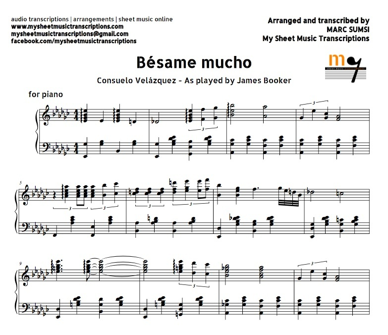Mucho (Consuelo Velázquez) Sheet music (.pdf)