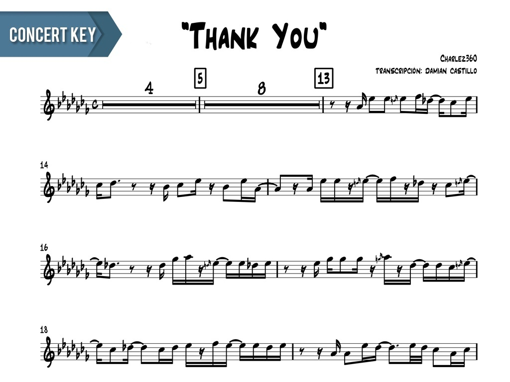 "Charlez360 - ""Thank You"" - Concert Key"