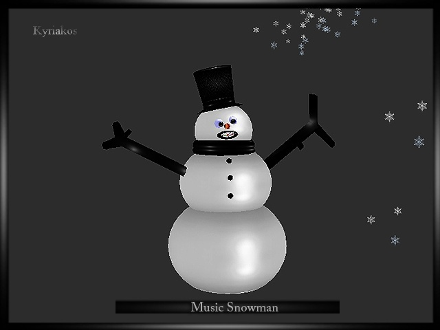 Music Snowman With Particles