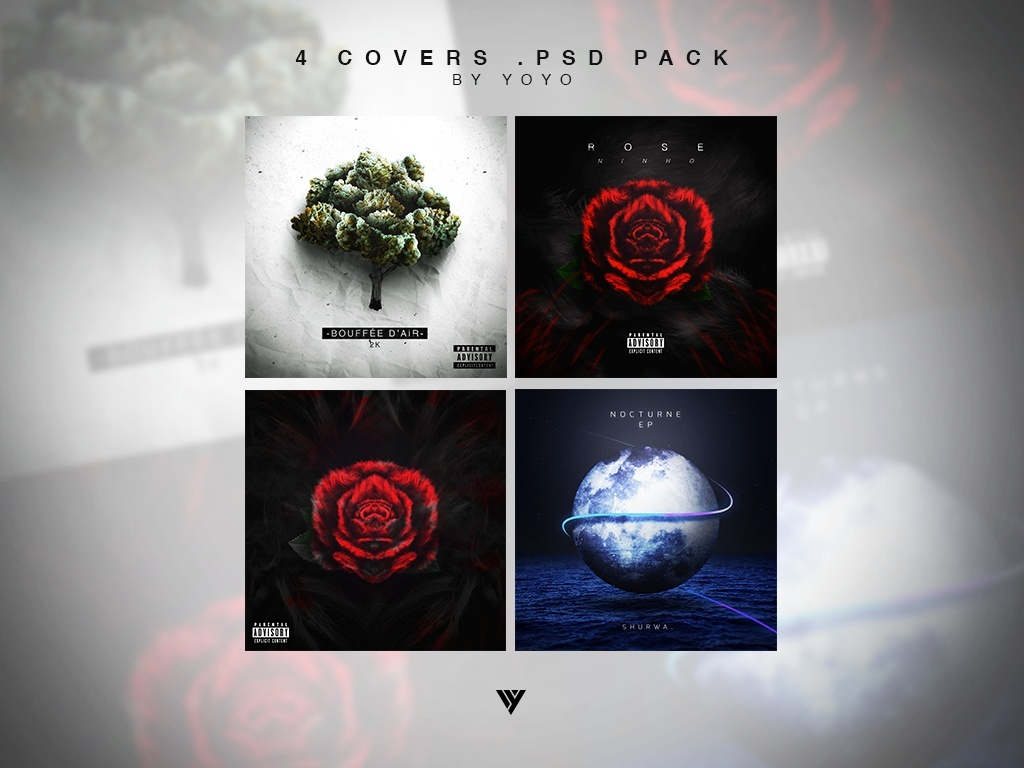 4 Covers .PSD Pack