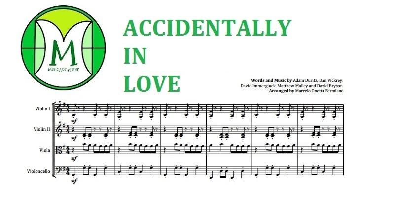 Accidentally In Love | Counting Crows | Quarteto de Cordas | Partitura Completa Grade e Partes