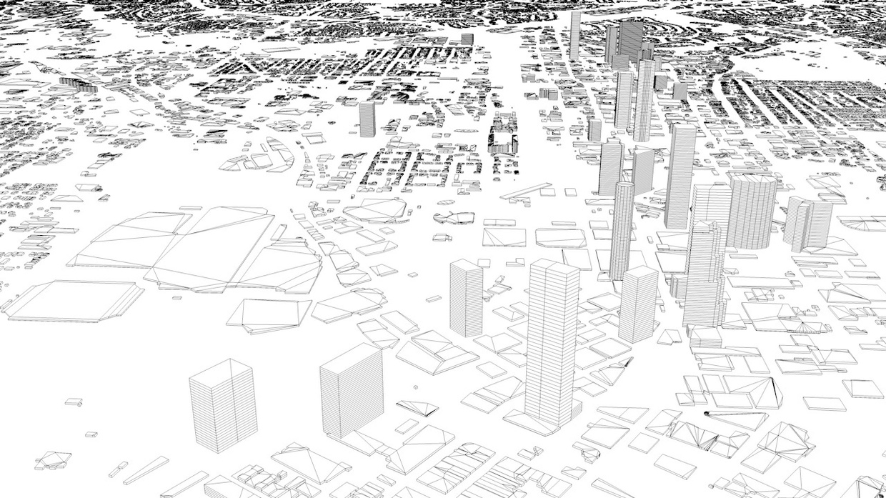 Atlanta Streets and Buildings Architectural 3D Model