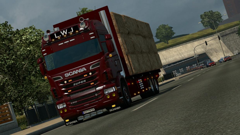 Scania RJL Hay transport