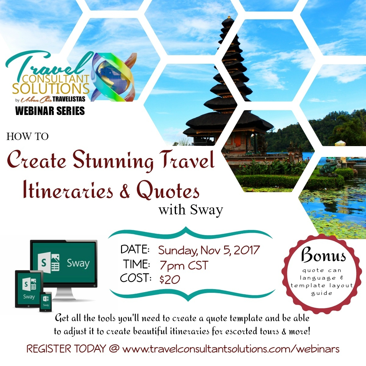 How to Create Stunning Travel Itineraries & Quotes with Sway Webinar